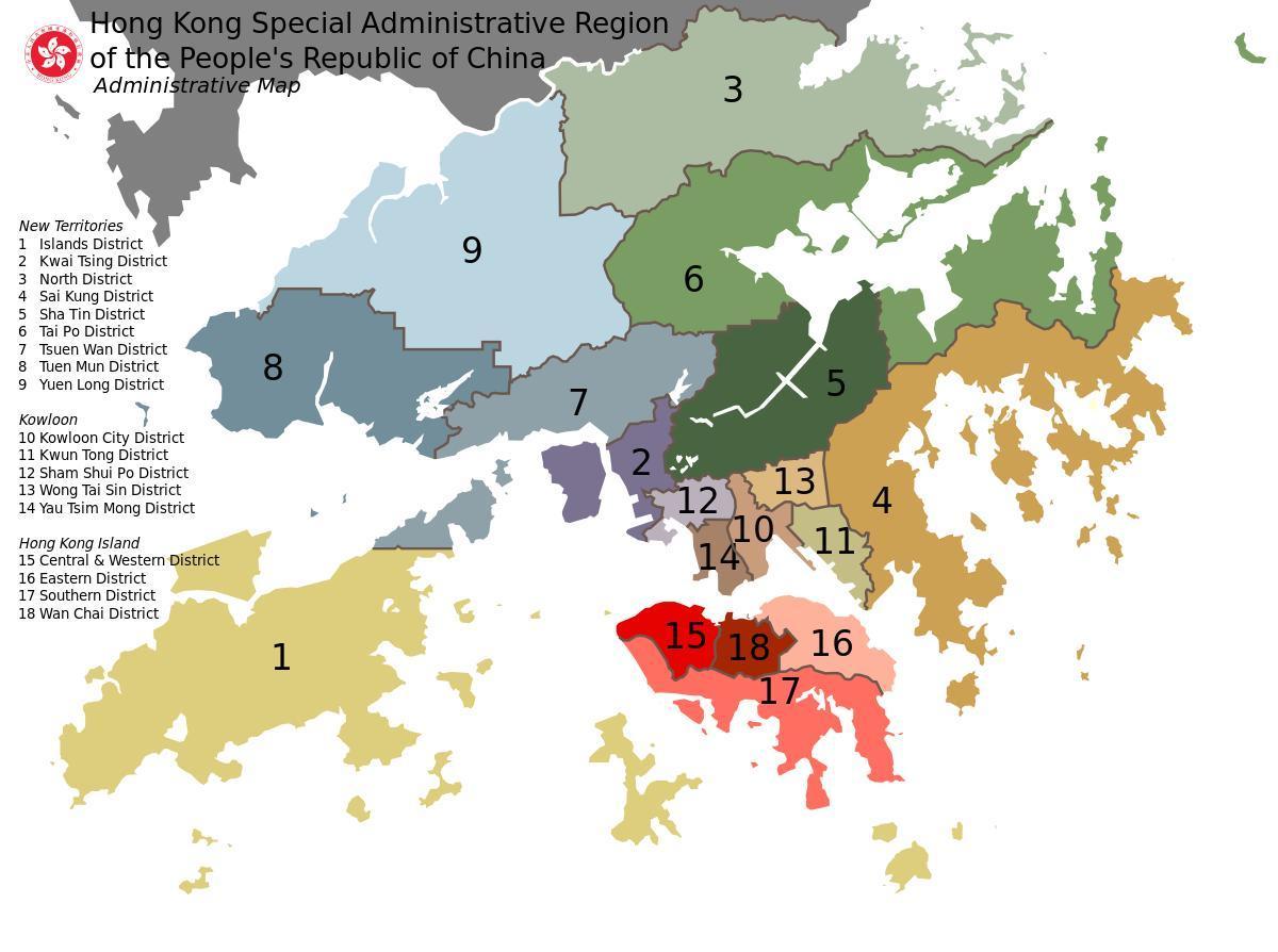 Cartina Hong Kong.Hong Kong Lingkungan Peta Peta Hong Kong Lingkungan Cina